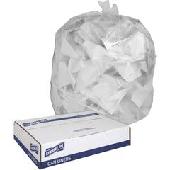 "Genuine Joe Clear Trash Can Liners - Medium Size - 30 gal - 30"" Width x 36"" Length x 0.60 mil (15 Micron) Thickness - Low Density - Clear - 250/Carton"
