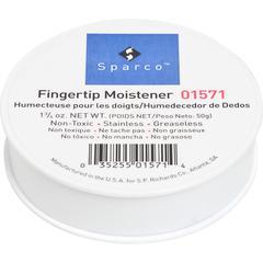 Sparco 1 3/4 Ounce Fingertip Moistener - White - Non-slip, Greaseless, Stainingless, Odorless