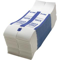 Sparco White Kraft ABA Bill Straps - 1000 Wrap(s) - Kraft - Blue