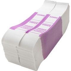 Sparco White Kraft ABA Bill Straps - 1000 Wrap(s) - Kraft - Violet