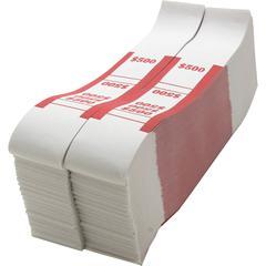 Sparco White Kraft ABA Bill Straps - 1000 Wrap(s) - Kraft - Red