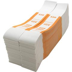 Sparco White Kraft ABA Bill Straps - 1000 Wrap(s) - Kraft - Orange