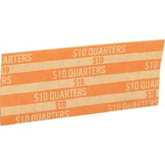 Sparco Flat Coin Wrappers - 1000 Wrap(s) - 60 lb Paper Weight - Kraft - Orange