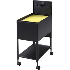 """Lorell Standard Mobile File - 4 Casters - 13.5"""" Width x 24.8"""" Depth x 28.3"""" Height - Black"""