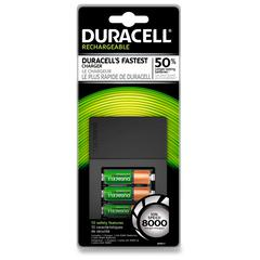 Duracell AA NiMH 15 Minute Charger - 15 Minute Charging - 120 V AC, 230 V AC Input - 1.2 V DC Output - 4 - AA, AAA