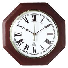 Chicago Lighthouse Octagon Mahogany Frame Clock - Analog - Quartz