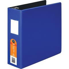 "Wilson Jones DublLock D-Ring Binder - 3"" Binder Capacity - Letter - 8 1/2"" x 11"" Sheet Size - 600 Sheet Capacity - 3 x D-Ring Fastener(s) - 2 Internal Pocket(s) - Dark Blue - 1 Each"