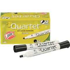 Quartet® Classic Low Odor Dry-Erase Markers - Chisel Marker Point Style - Black - 12 / Dozen
