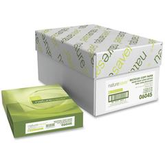 """Nature Saver Recycled Paper - Letter - 8 1/2"""" x 11"""" - 20 lb Basis Weight - 5000 / Carton - White"""