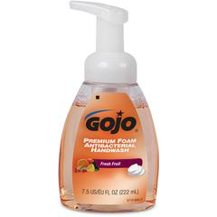 Gojo Premium Foam Antibacterial Handwash - Fresh Fruit Scent - 7.5 fl oz (221.8 mL) - Pump Bottle Dispenser - Hand - Orange - Antimicrobial, Rich Lather - 1 Each