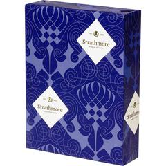 """Mohawk Strathmore Wove Paper - Letter - 8 1/2"""" x 11"""" - 24 lb Basis Weight - Wove - 500 / Ream - Bright White"""