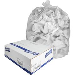 """Genuine Joe High-density Can Liners - Large Size - 45 gal - 40"""" Width x 48"""" Length x 0.63 mil (16 Micron) Thickness - High Density - Clear - Resin - Office Waste, Industrial Trash"""