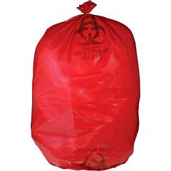 "Medegen MHMS Red Biohazard Infectious Waste Bags - 33 gal - 31"" Width x 43"" Length x 1.50 mil (38 Micron) Thickness - Red - 50/Box - Office Waste"