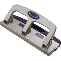 """OIC Deluxe Standard 3-hole Punch with Drawer - 3 Punch Head(s) - 20 Sheet Capacity - 9/32"""" Punch Size - Silver"""
