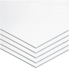"Pacon Foam Board - Mounting, Classroom, Craft, Frame, Display, School Project - 22"" x 28""187.5 mil - 5 / Carton - White - Polystyrene"