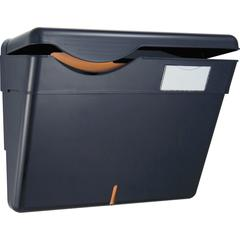 OIC HIPAA Wall File with Cover - Wall Mountable - Black - Plastic - 1Each