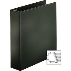 """Sparco EasyOpen Locking Slant-D Ring Binders - 2"""" Binder Capacity - Letter - 8 1/2"""" x 11"""" Sheet Size - D-Ring Fastener - Inside Front & Back Pocket(s) - Polypropylene - Black - 1 Each"""