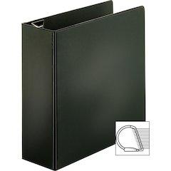 """Sparco EasyOpen Locking Slant-D Ring Binders - 4"""" Binder Capacity - Letter - 8 1/2"""" x 11"""" Sheet Size - D-Ring Fastener - Inside Front & Back Pocket(s) - Polypropylene - Black - 1 Each"""