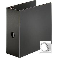 """Sparco EasyOpen Locking Slant-D Ring Binders - 5"""" Binder Capacity - Letter - 8 1/2"""" x 11"""" Sheet Size - D-Ring Fastener - Inside Front & Back Pocket(s) - Polypropylene - Black - 1 Each"""