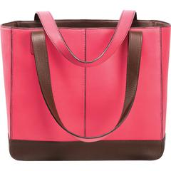 """Day-Timer Carrying Case (Tote) Accessories - Pink - Leather - 10"""" Height x 11.5"""" Width x 4"""" Depth"""