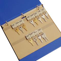 "Key Panel - 11.5"" Width - 250 mil Thickness - 22 x Key Capacity - Ring Binder - Rectangular - Beige - Plastic - 1 Each"