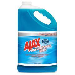 AJAX Glass/Multi-Surface Cleaner - Liquid - 1 gal (128 fl oz) - 4 / Carton - Blue