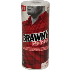 """Georgia-Pacific Brawny Perforated Wipers - 11"""" x 9.30"""" - 84 Sheets/Roll - White - Paper - Absorbent, Soft, Perforated - For Office Building, Food Service - 20 / Carton"""