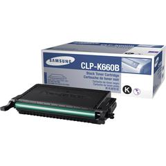 Samsung CLP-K660B Toner Cartridge - Laser - 5500 Pages - Black - 1 Each