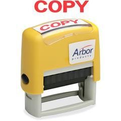 "SKILCRAFT Pre-Inked ""Copy"" Message Stamp - Message Stamp - ""COPY"" - 1.63"" Impression Width x 0.50"" Impression Length - 50000 Impression(s) - Red - 1 Each"