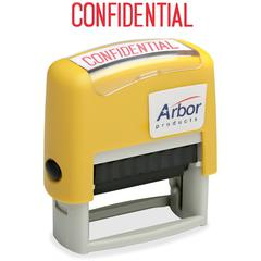 """SKILCRAFT Pre-inked """"Confidential"""" Stamp - Message Stamp - """"CONFIDENTIAL"""" - 1.63"""" Impression Width x 0.50"""" Impression Length - 50000 Impression(s) - Red - 1 Each"""
