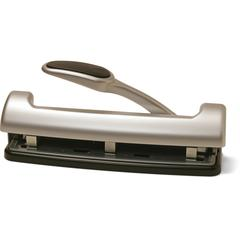 """OIC EZ Level 2-3 Hole Adjustable Punch - 3 Punch Head(s) - 15 Sheet Capacity - 9/32"""" Punch Size - Silver"""