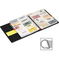 "Cardinal EasyOpen Card File Binder - 400 Capacity - 8.50"" Width x 11"" Length - 3-ring Binding - Refillable - Black Vinyl Cover"