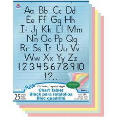 """Pacon Colored Paper Chart Tablet - 24"""" x 32"""" - 5 Assorted Colors - No - 25 / Each"""