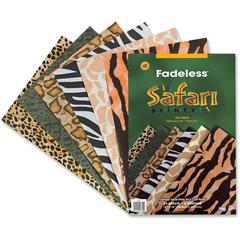"Fadeless Safari Prints Paper - Scrapbooking, Craft, Display - 12"" x 18"" - 50 lb Basis Weight - 1 / Pack - Assorted"