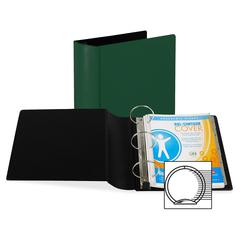 "Samsill 174 Contour Heavy Duty Ring Binder - Letter - 8.5"" x 11"" - 4"" Capacity - 6 / Carton - Hunter Green"