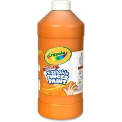 Crayola Washable Finger Paint Markers - 2 lb - 1 Each - Orange