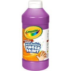 Crayola Washable Finger Paint - 16 oz - 1 Each - Violet