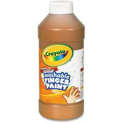 Crayola Washable Finger Paint - 16 oz - 1 Each - Brown
