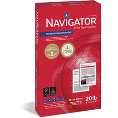 "Soporcel Navigator Premium Multipurpose Paper - Legal - 8 1/2"" x 14"" - 20 lb Basis Weight - 10 / Carton - White"