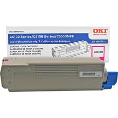 Oki Original Toner Cartridge - LED - 6000 Pages - Magenta - 1 Each