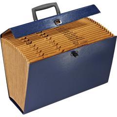 "Pendaflex 19-Pocket File Express Case - Legal - 8 1/2"" x 14"" Sheet Size - 19 Pocket(s) - Fiberboard - Black, Blue, Green, Burgundy - 1.80 lb - 1 Each"
