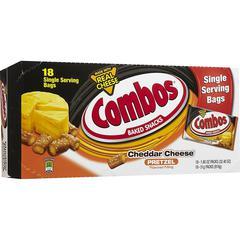Combos Mars Flavia Cheddar Cheese Filled Pretzel - Cheddar Cheese, Crunch - 1.80 oz - 18 / Box