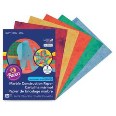 """Pacon Art Street Marble Construction Paper - 9"""" x 12"""" - 50 / Pack - Assorted"""