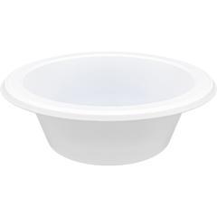 Genuine Joe Reusable Plastic Bowls - Bowl - Plastic Bowl - White - 125 Piece(s) / Pack