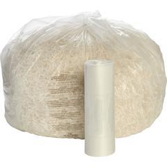 """SKILCRAFT - High Performance Shredder Bag - 60 gal - 51"""" x 49"""" - 50 / Box - Clear"""