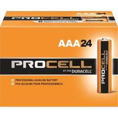 Duracell Procell Alkaline AAA Battery - PC2400 - AAA - Manganese Dioxide (MnO2) - 1.5 V DC - 24 / Box