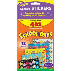 Trend School Days Sparkle Stickers Assortment - 432 - Acid-free, Non-toxic - Assorted - 1 Pack