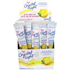 Crystal Light Kraft On-The-Go Mix Lmnade Sticks - Powder - Lemonade Flavor - 0.17 oz - 30 / Box