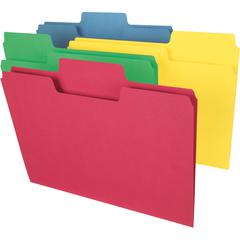 """Smead Colored SuperTab® Folders - Legal - 8 1/2"""" x 14"""" Sheet Size - 3/4"""" Expansion - 1/3 Tab Cut - 11 pt. Folder Thickness - Recycled - 100 / Box"""