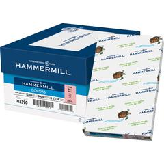"Hammermill Fore Super Premium Paper - 8.50"" x 14"" - 20 lb Basis Weight - Recycled - 30% Recycled Content - 500 / Ream - Pink"